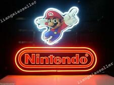 New Nintendo Super Mario REAL GLASS NEON SIGN BEER BAR PUB LIGHT Free Shipping