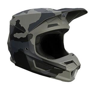 Fox Racing Youth Black Camo VI Trev Helmet DOT ECE Certified Lightweight MotoX