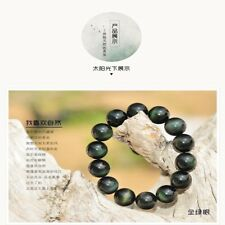 Authentic Beads Stone Jewelry Bracelet Natural Rainbow Eye Obsidian