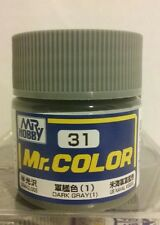 Gunze Sangyo /Mr Hobby acrylic paint C-31 Dark Grey (US Navy) 10ml.