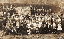More details for postcard social history - bishopsteignton band of hope - whit monday 1913 - rp