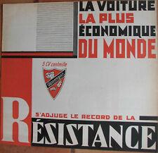 E88 : ROSENGART : 1933 : 1 DEPLIANT - PUB : FORMAT : 26 X 24 CM : TRES BEL ETAT