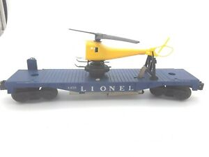 1960's Lionel Operating #3419 Helicopter Car w/ chopper. See Photo's & Read On!