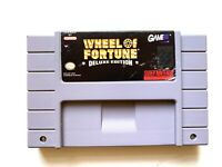 Wheel Of Fortune Deluxe Edition SUPER NINTENDO SNES GAME Tested WORKING