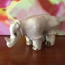 Art Studio Pottery ~ Rhinoceros Sculpture / Figurine ~ Stoneware ~ Hand Crafted