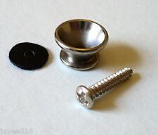 SINGOLO CROMO TRACOLLA CHITARRA pin, pin fine pulsante Cinturino UK