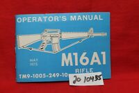 M16 A1 Owners Manual  ORIGINAL 1975 56 PAGES COLT M16A1 RARE COLT VINTAGE COLT