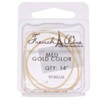 Qty 3 - Gold French/Gimp Wire - 1 each Heavy, Medium & Fine (Save 30p each)