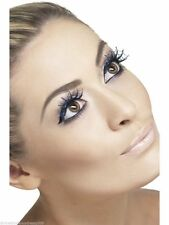 Glitter Spiderweb Eyelashes Cobweb Halloween Sparkly False Lashes Smiffys 23186