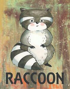 "Nursery Wall Art, Baby Nursery Print, Woodland Nursery Wall Art Print 8x10"""