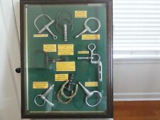 Horse Bit Display Framed, Collectible, Vintage, One of a Kind!