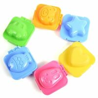 6 pieces boiled egg sushi rice Mold Bento Maker Sandwich Cutter Decorating W4Z5