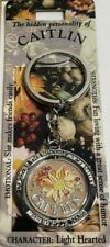 *Hidden personality of Caitlin* metal keychain ~NEW~ 2 sides/spins ~florals~
