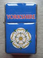 NEW Windproof Flip Top Lighter Yorkshire White Rose Design Leeds Hull Bradford