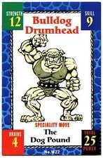 Buldog Drumhead #W22 Monster Wrestlers In My Pocket Matchbox Grapple Card (C894)