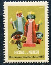 STAMP / TIMBRE VIGNETTE / ESPANA / ESPAGNE BARCELONA / FIESTAS MERCED 1959
