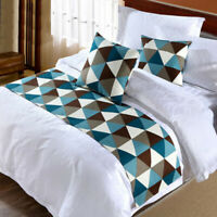 Classic triangle Bed Runner Double Layer Bedding Scarf Pillowcase Home Bed Decor