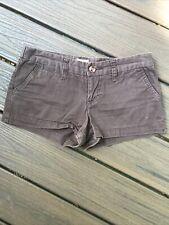 Mossimo Brown Cotton Mini Shorts - Size 1