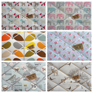 FABRIC PIN/MEMO/NOTICE/MEMORY/PHOTO BOARD PROFESSIONALLY MADE *CHOICE OF STYLE**