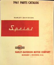 1961   Harley-Davidson  Parts Caralogue Sprint Models N0.# 99455-61  Illustrated