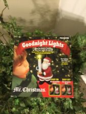 Mr Christmas Santa Goodnight Lights Blow Out Candle Ornament Light New Nip
