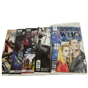 Dr Who Comic Books (4) And  1 Transforemers 5 Total In Plastic Sleeve