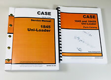 CASE 1845 UNI LOADER SKID STEER SERVICE MANUAL PARTS CATALOG SHOP BOOK OVHL