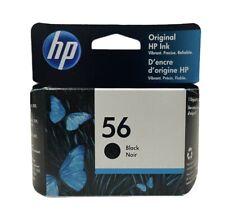Original HP Ink Cartridge 56 Black C6656An Option 140, Sealed Box, Exp. 8/2022