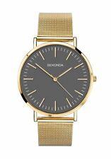 Sekonda Gents Watch Grey Dial with Gold Effect Mesh Bracelet 1458