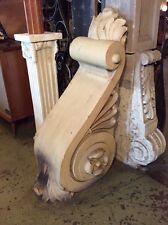 Extra Large Decorative Terra Cotta Corbel Building Facade Pieces PAIR #2676
