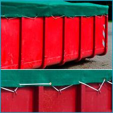 Anhängernetz feinmaschig Gummiseil 2,50 x 3,50 m Ladungssicherung grün