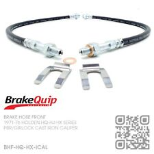 BRAKEQUIP IRON CALIPER BRAKE HOSES [HOLDEN HQ-HJ-HX UTE/VAN/SEDAN/WAGON/MONARO]