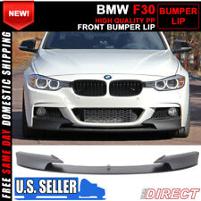 For 12-16 BMW F30 3 Series M Style Front Bumper Lip Unpainted PP (Polypropylene)