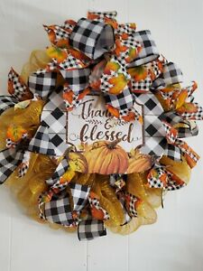 Thankful and Blessed Fall Wreath