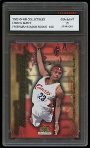 LEBRON JAMES 2003-04 UPPER DECK #10 1ST GRADED 10 ROOKIE CARD LAKERS/CAVALIERS