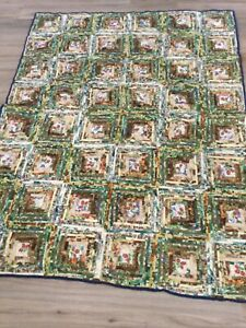 Handmade Quilt, Throw Blanket,Quilted,Multi Color,Machine Quilted,NEW, MINT