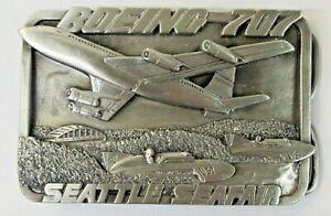 1984 BOEING 707 SEATTLE SEAFAIR hydroplane boat racing BELT BUCKLE b1