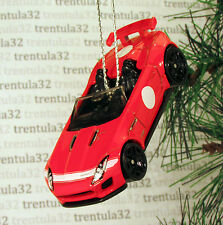 2015 JAGUAR F-TYPE PROJECT 7 '15 RED WHITE BLACK CHRISTMAS TREE ORNAMENT XMAS