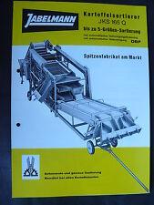 Jabelmann Kartoffelsortierer JKS 165 Q - Prospekt Brochure 1987?  (0497