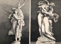 Mythology NUDE CEPHALUS PROCRIS WINGED ANGEL VICTORY ~ 1878 Art Print Engraving