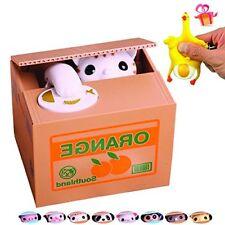 OLICTA Cute Stealing Coin Cat Piggy Bank Dog Mouse Pig Monkey Money Box Panda