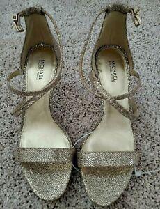 Michael Kors Women's Ankle Strap Stilettos High Heel Sandals Open Toe Shoes 7.5