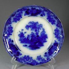 """Antique Alcock Jr Flow Blue Scinde Dinner 9.12"""" 12 Sided Plate 2"""