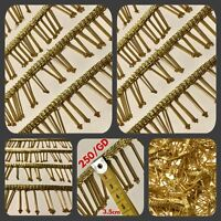 1 Yard Gold Bead Fringe Bridal Saree Tassel SewOn Trim Curtain Gimp Lace 3.5cm