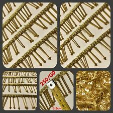 8 Yd Gold Bead Fringe Bridal Saree Tassel Sewon Trim Curtain Gimp Lace 3.5 cm