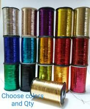 1 x Lurex Embroidery Machine Thread Yarn Spool  Metallic Thread 5000 Meters each