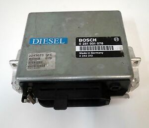 Engine Control Unit BMW 5 serie E34 524 TD 2.4-STGT 2243623 ECU BOSCH 0281001078
