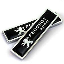 2x Car Motor Side Sticker Side Fender Emblem Badge Logo Accessories For Peugeot