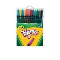 Crayola 12 Twistables Coloured Pencils, Twistable Colouring Crayons Art Kids