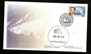 CANADA FIRST DAY COVER - 1998 - BLUENOSE/WILLIAM ROUE - LUNENBURG PICTORIAL CAN.